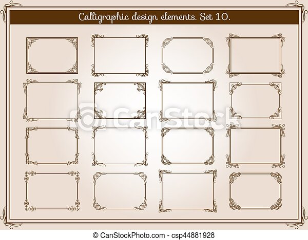 elemente weinlese rahmen dekoration elegant vektor vektor illustration suche clipart. Black Bedroom Furniture Sets. Home Design Ideas
