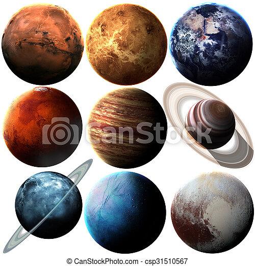 elementi, ammobiliato, questo, immagine, sistema, isolato, nasa, planets., solare, hight, qualità - csp31510567