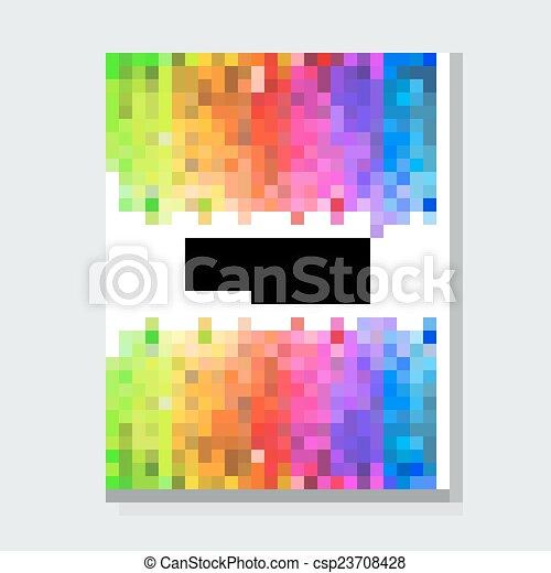 elementi, disegnato, version., mano, acquarello, fondo., luminoso, vettore, colors., album, composizione, strisce, o, print. - csp23708428