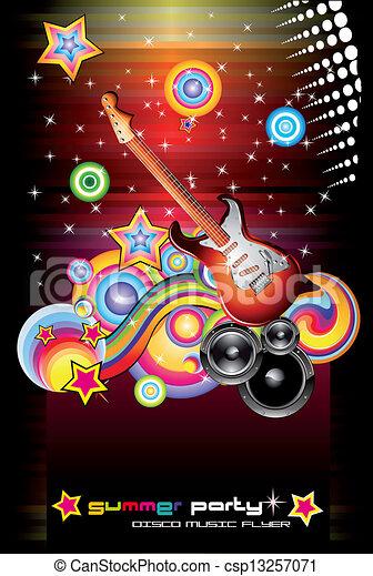 elementi, fondo, ballo, fantasia, lotto, musicale - csp13257071