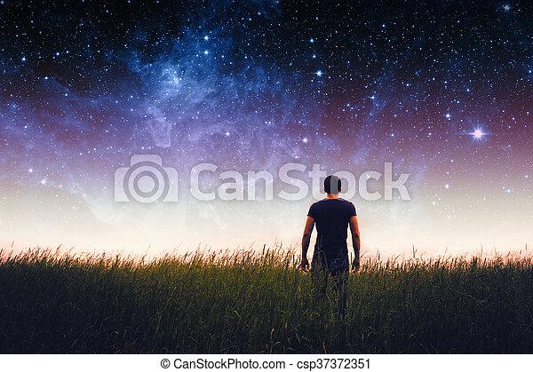 elementi, silhouette, ammobiliato, questo, immagine, nasa, uomo - csp37372351