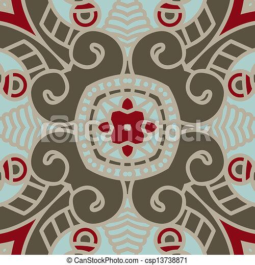 elemento decorativo, vettore, disegno, quadrato - csp13738871