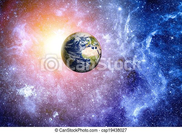 Elementos de fondo del espacio profundo de esta imagen provista por la NASA - csp19438027