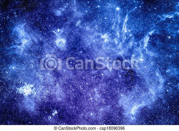 Elementos de fondo del espacio profundo de esta imagen provista por la NASA - csp18096396