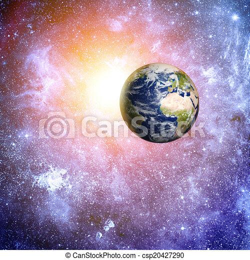 Elementos de fondo del espacio profundo de esta imagen provista por la NASA - csp20427290