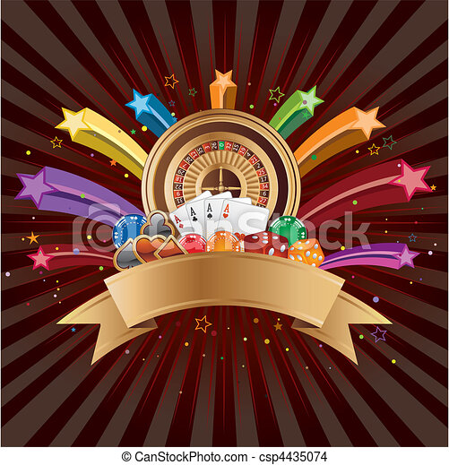 Elementos de casino vector - csp4435074