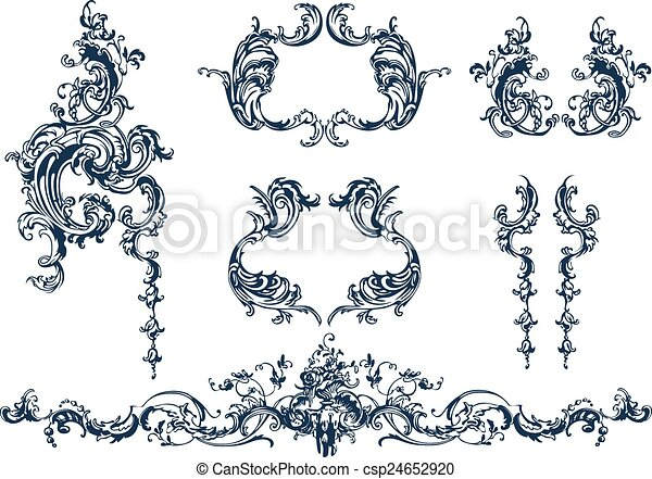 elementos, decorativo - csp24652920