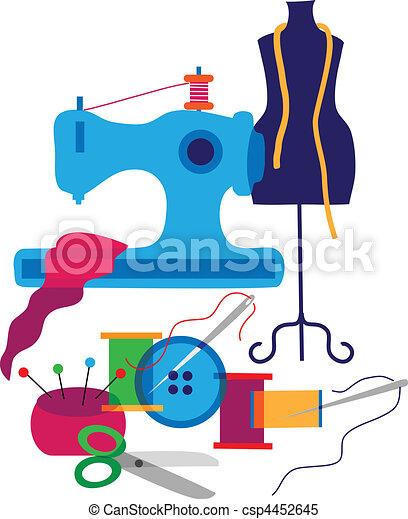 Un conjunto de elementos decorativos del diseñador de ropa - csp4452645