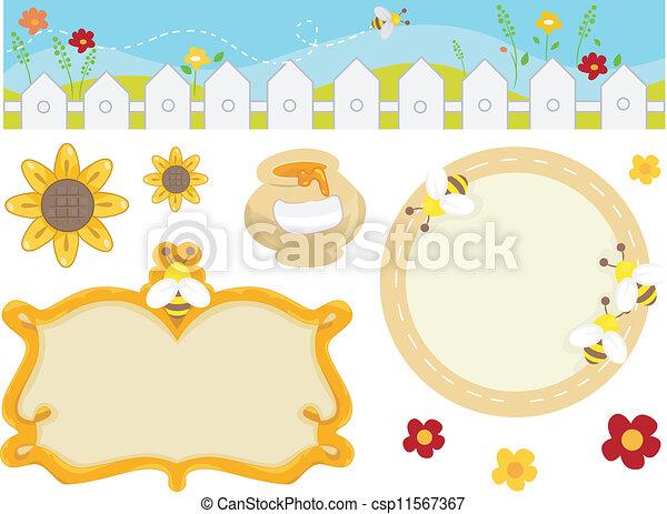 elementos, desenho, abelha - csp11567367