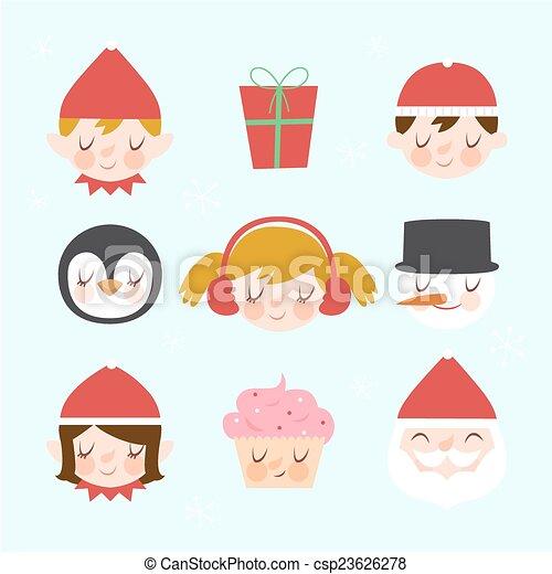 Elementos de diseño navideños - csp23626278