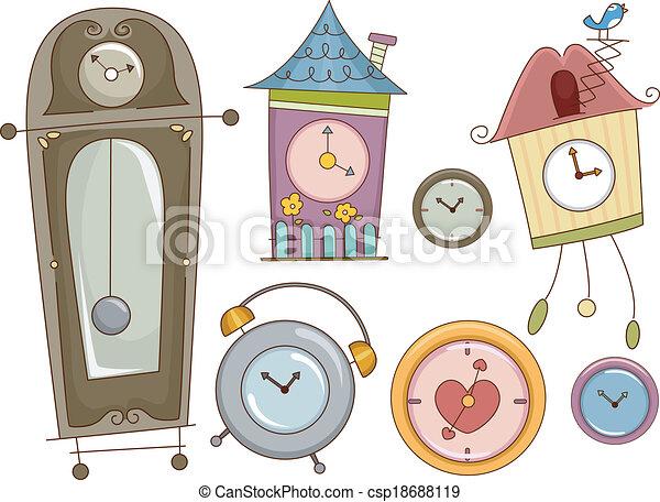 Elementos de diseño de relojes - csp18688119