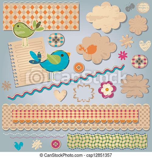 Elementos textuales de diseño - csp12851357