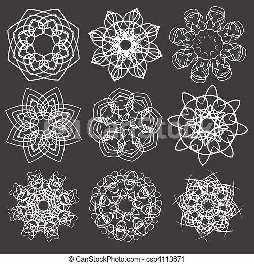 elementos florais - csp4113871