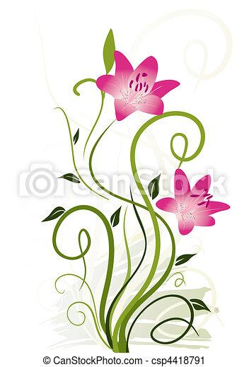 elementos florais - csp4418791