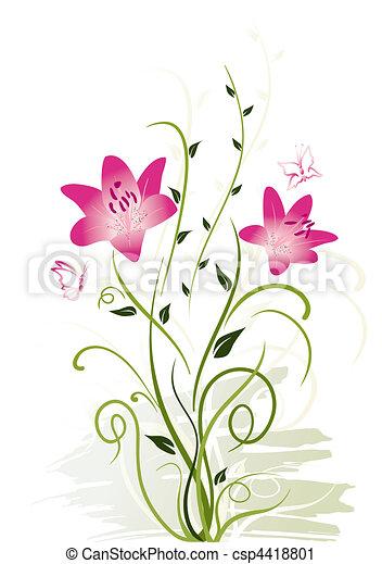 elementos florais - csp4418801
