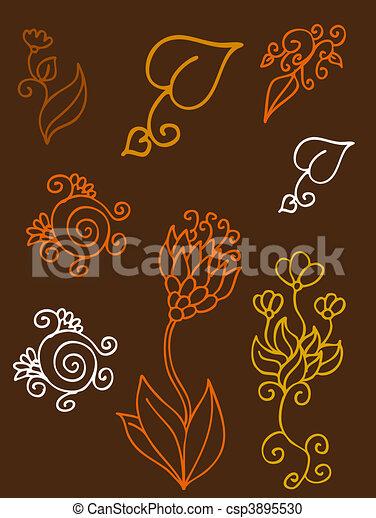 elementos florais - csp3895530