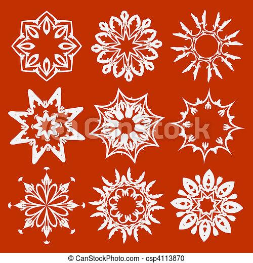 elementos florais - csp4113870