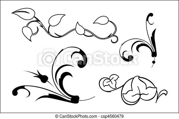 elementos florais - csp4560479