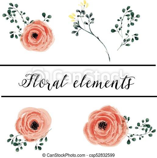 elementos florais - csp52832599