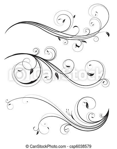 elementos florais - csp6038579