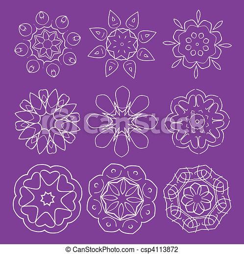 elementos florais - csp4113872