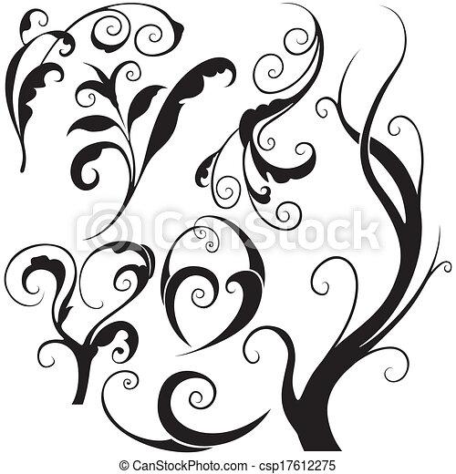 elementos florais - csp17612275
