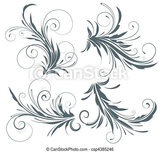 elementos florais - csp4385246