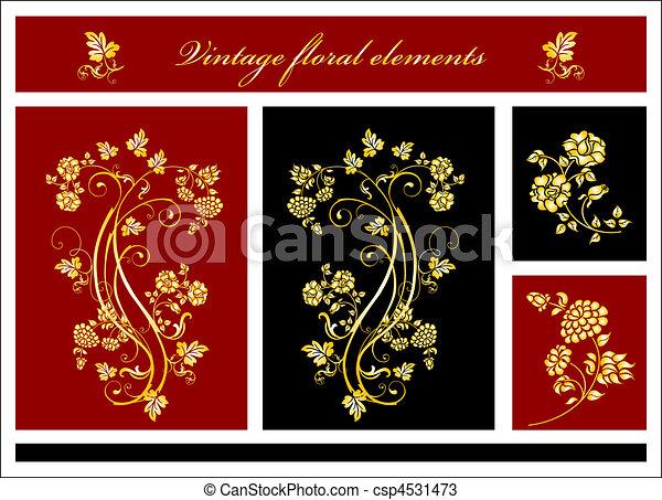 elementos florais - csp4531473