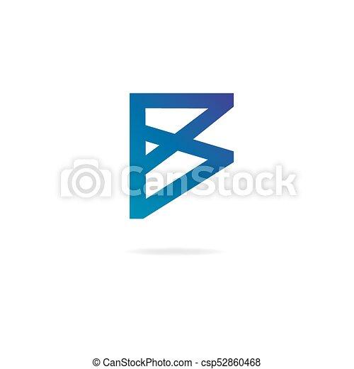 elementos letra b desenho modelo logo