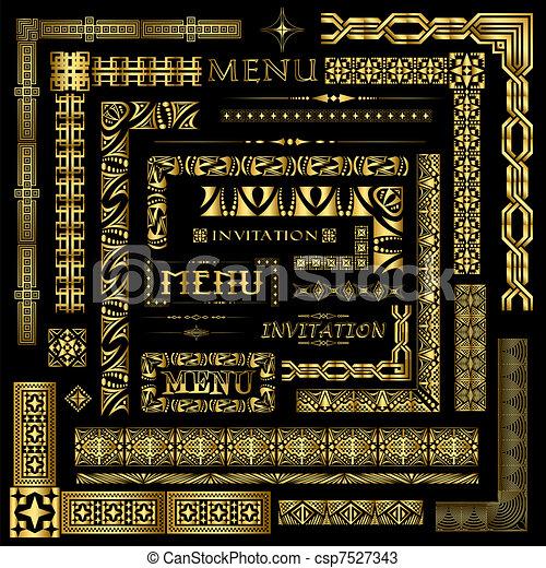 Los elementos de la frontera del oro - csp7527343
