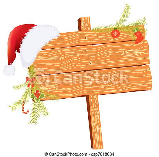 Historial de Navidad para textos con elementos festivos en blanco - csp7618084