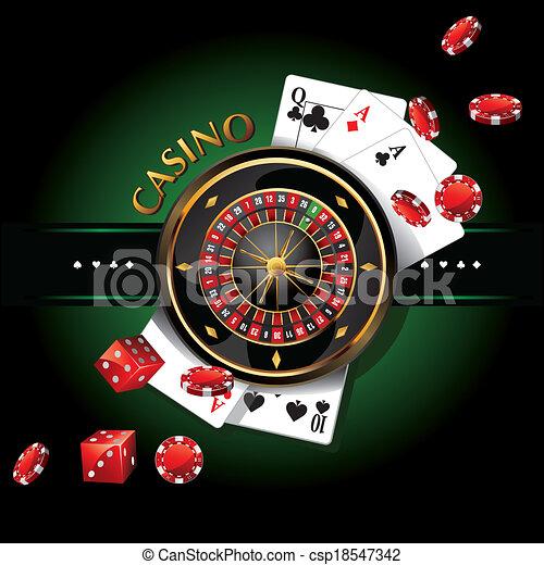 elements casino, roulette  - csp18547342