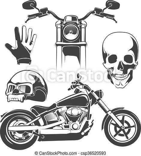 elements for biker labels - csp36520593