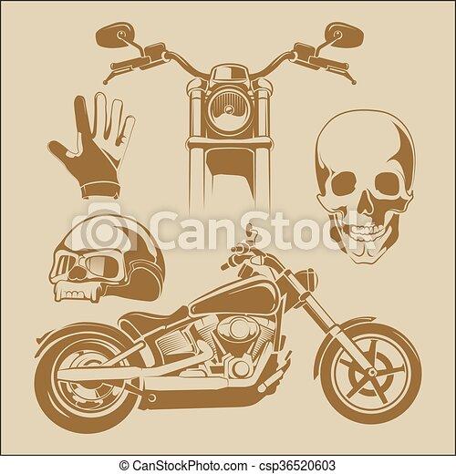 elements for biker labels - csp36520603