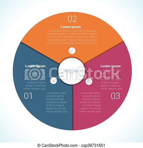 Elements for template infographic three position, steps, parts, with ...