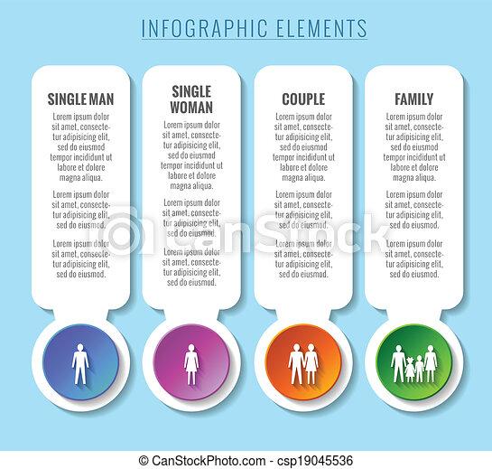 elements., infographic, concepts., 家族, 関係 - csp19045536