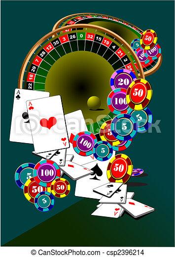 Elementos casino. Roulette. Jack negro. Ilustración del vector - csp2396214