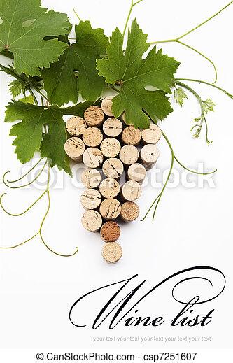 elenco, concetto, disegno, vino - csp7251607