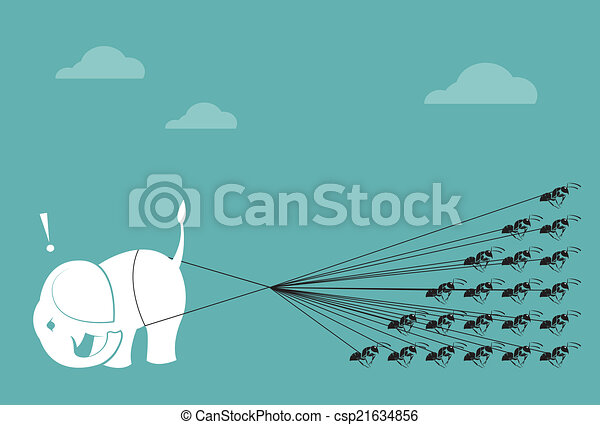 Line Drawing Unity : Elephant and ant rope pulling together concept of unity clipart
