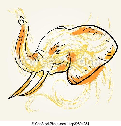 Elephant art - csp32804284