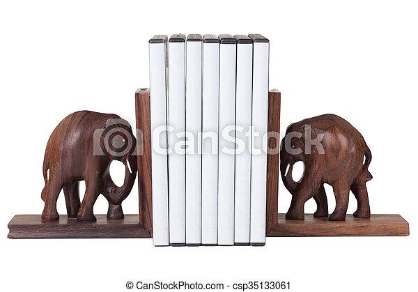 elephant bookend - csp35133061