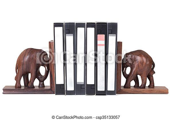 elephant bookend - csp35133057