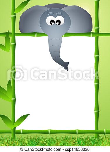 elephant cartoon csp14658838 - Cadre Elephant
