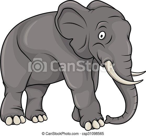 Elephant cartoon illustration - Elephant en dessin ...
