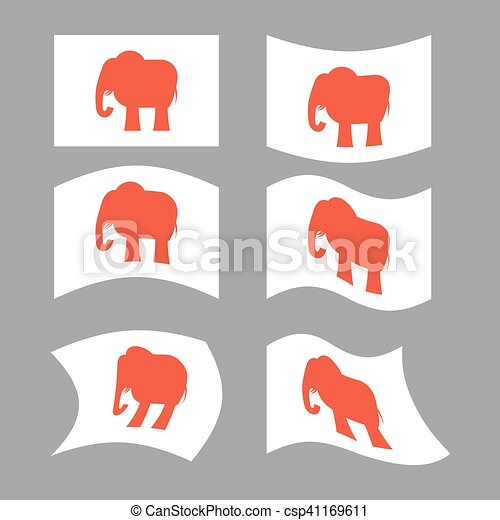 Elephant Flag Republican National Flag Of Presidential Election In