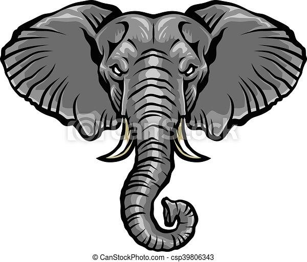 elephant head. Black Bedroom Furniture Sets. Home Design Ideas