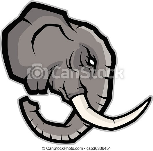 elephant head mascot clipart picture of an elephant head clipart rh canstockphoto com school mascot clipart panther mascot clipart