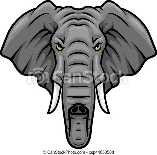 elephant head tusks and trunk vector mascot icon elephant vector rh canstockphoto com elephant vector free download elephant vector free download
