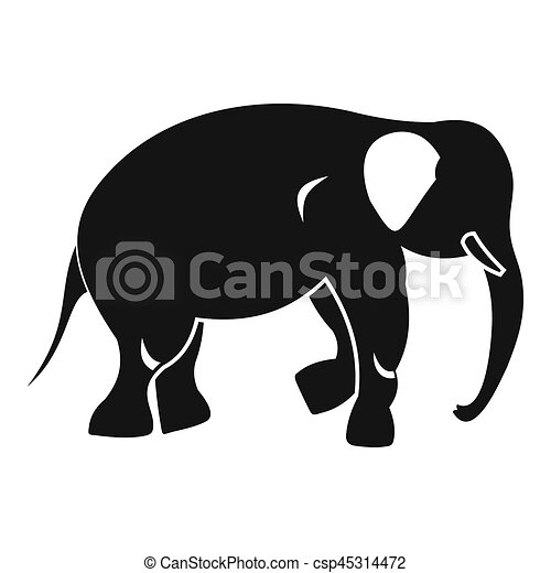 elephant icon simple style elephant icon simple illustration of elephant icon for web can stock photo