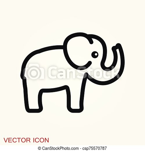 elephant icon vector logo line art illustration elephant vector logo line art illustration memory icon https www canstockphoto com elephant icon vector logo line art 75570787 html